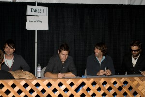 Jars of Clay at the signing table